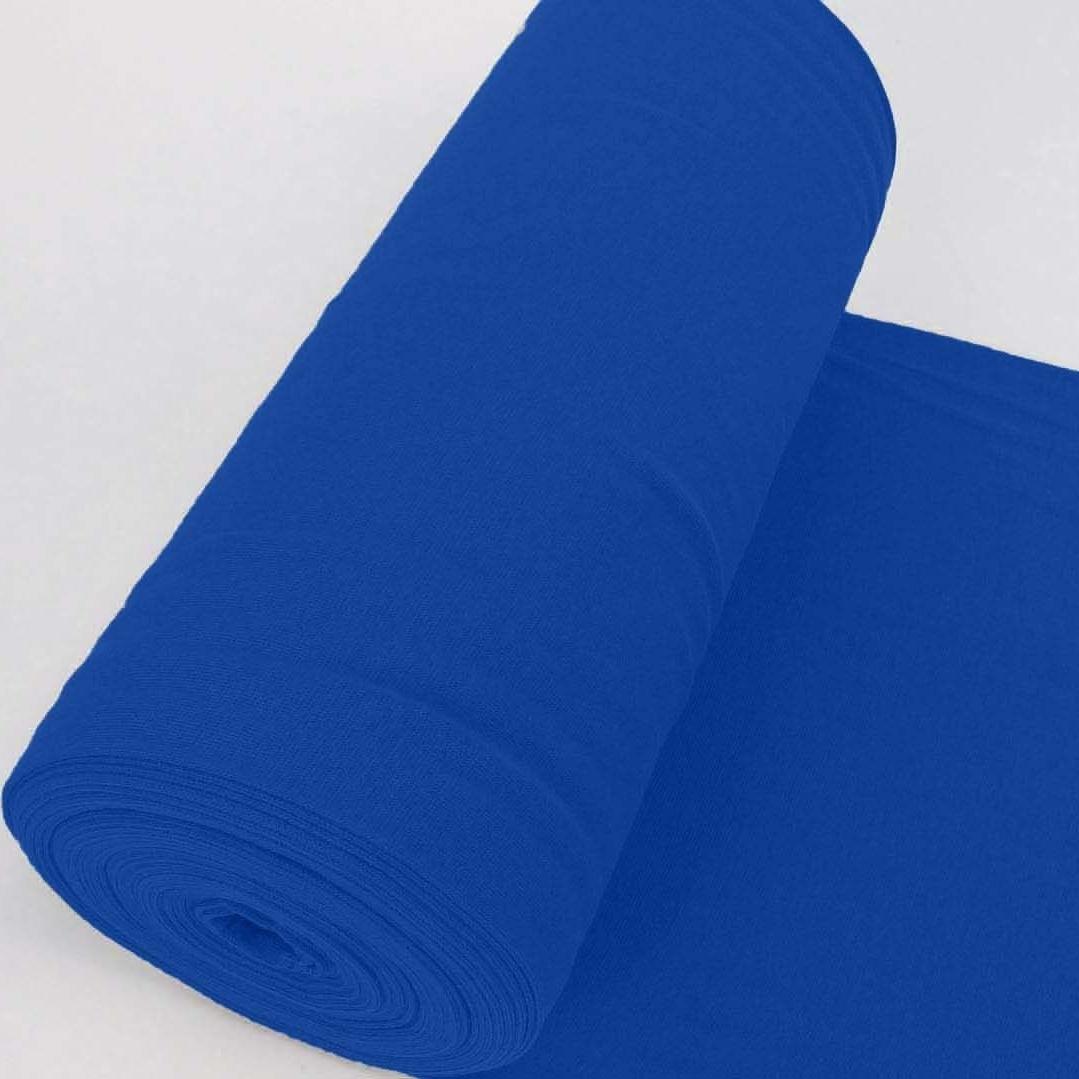Bündchen Stoff Feinripp Uni - Kobalt