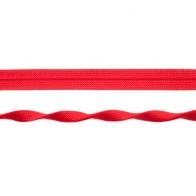 Einfassband elastisch Jaquard 20 mm - Rot glänzend