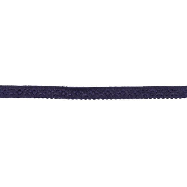 Elastisches und vorgefalztes Einfassband mit Verzierung - Violett