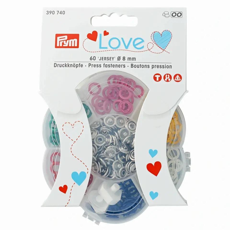 Prym Love Jersey Druckknöpfe in 6 Farben - 8mm Durchmesser