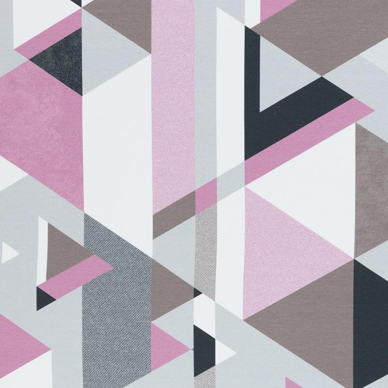 Sommersweat - Swafing - Streetstyle by Lycklig Design - Dreiecke in Rosa- und Grautönen