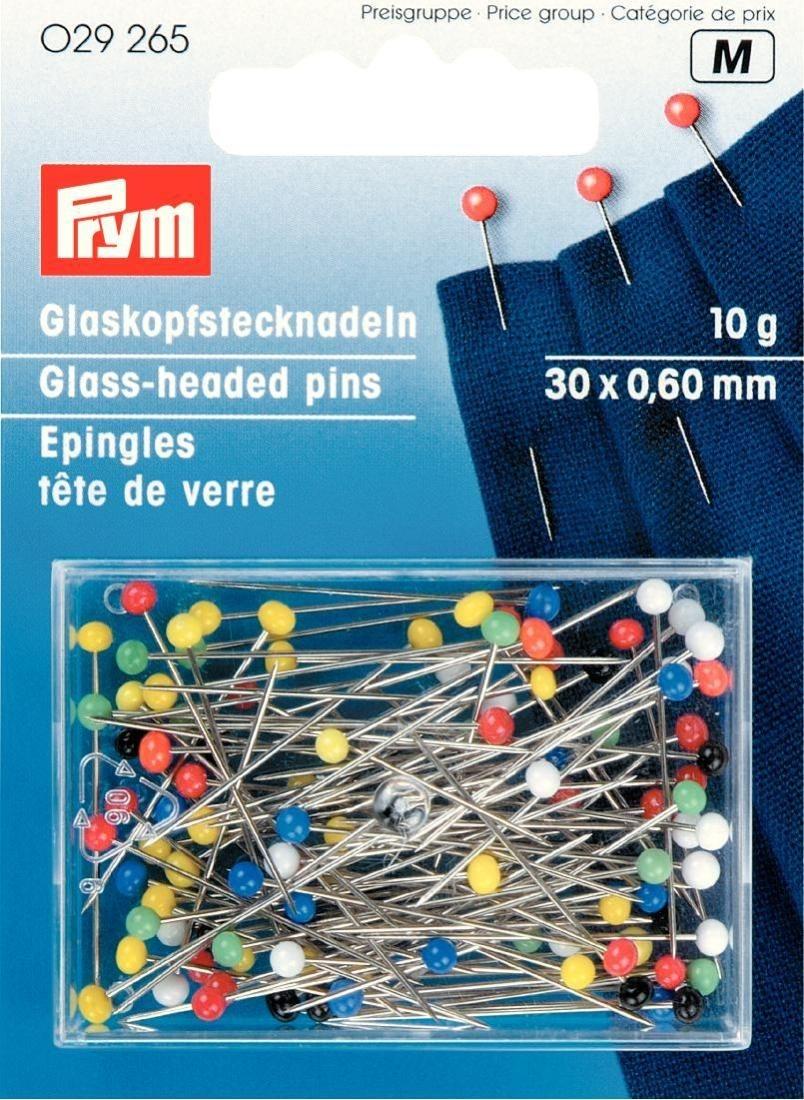 Prym Glaskopfnadeln ST 0.60 x 30 mm bunt. 10 g