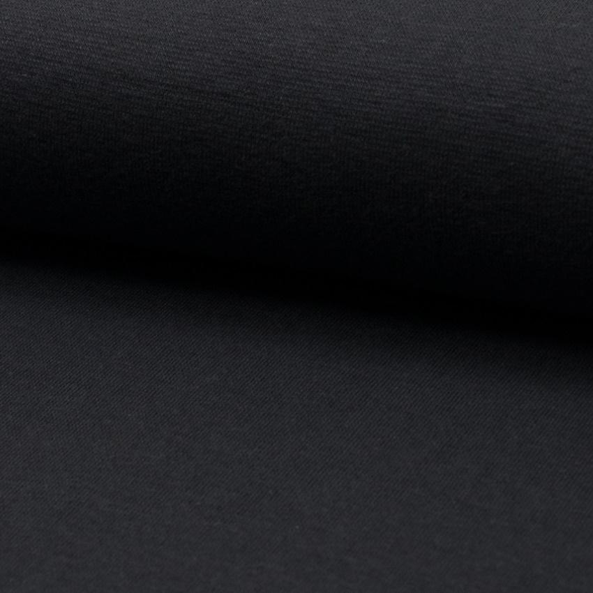 Bündchen Feinripp Uni - Dunkelgrau