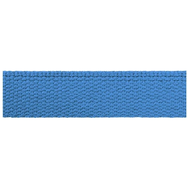 Hochwertiges Gurtband Baumwolle - Baumwollgurtband - 40mm - Taubenblau