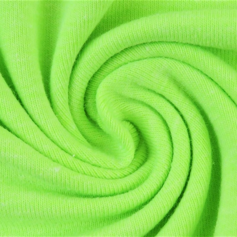 Baumwolljersey - Jersey Stoff Uni - Neon - Grün