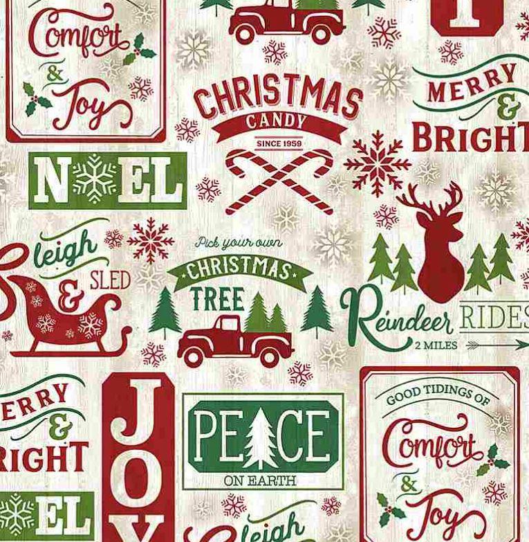 Patchwork Baumwolle - Timeless Treasures - Holidays - Weihnachten