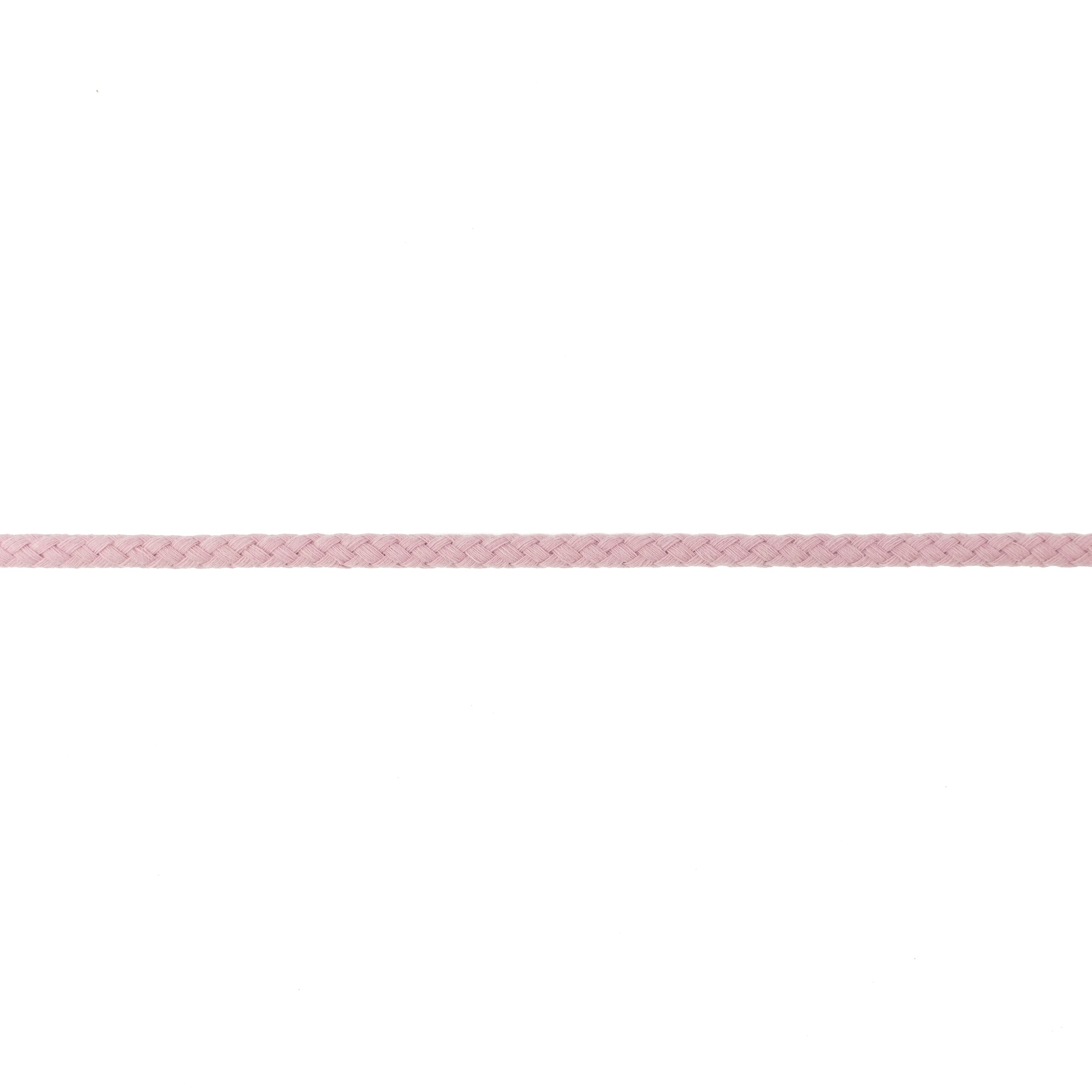 Doppelt gewebte Baumwollkordel - 8mm - Altrosa