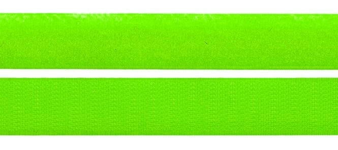 Klettband - Meterware - Doppelband - Hakenband und Flauschband 25 mm Lemon