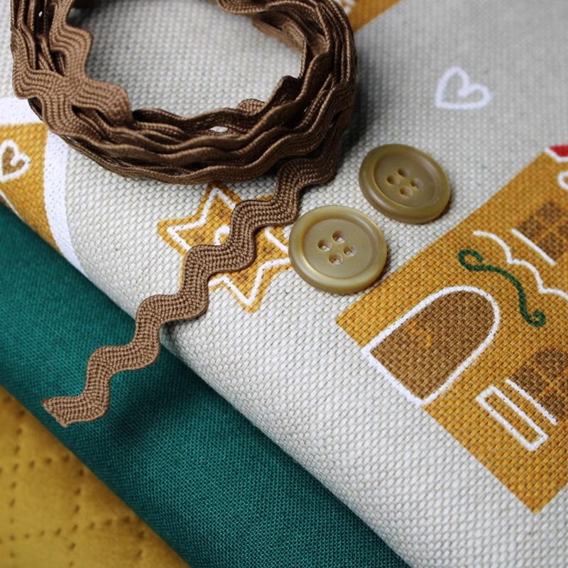 Schnuckidu - Stoffpaket - Taschenpaket - Lebkuchen - Grün