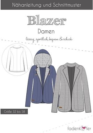 Papierschnittmuster Fadenkäfer - Blazer für Damen