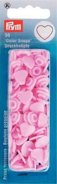 Prym - NF Druckknöpfe Color Snaps Herz - Rosa