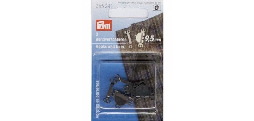 Prym - Hosen/ Rockhaken  9,5 mm schwarz