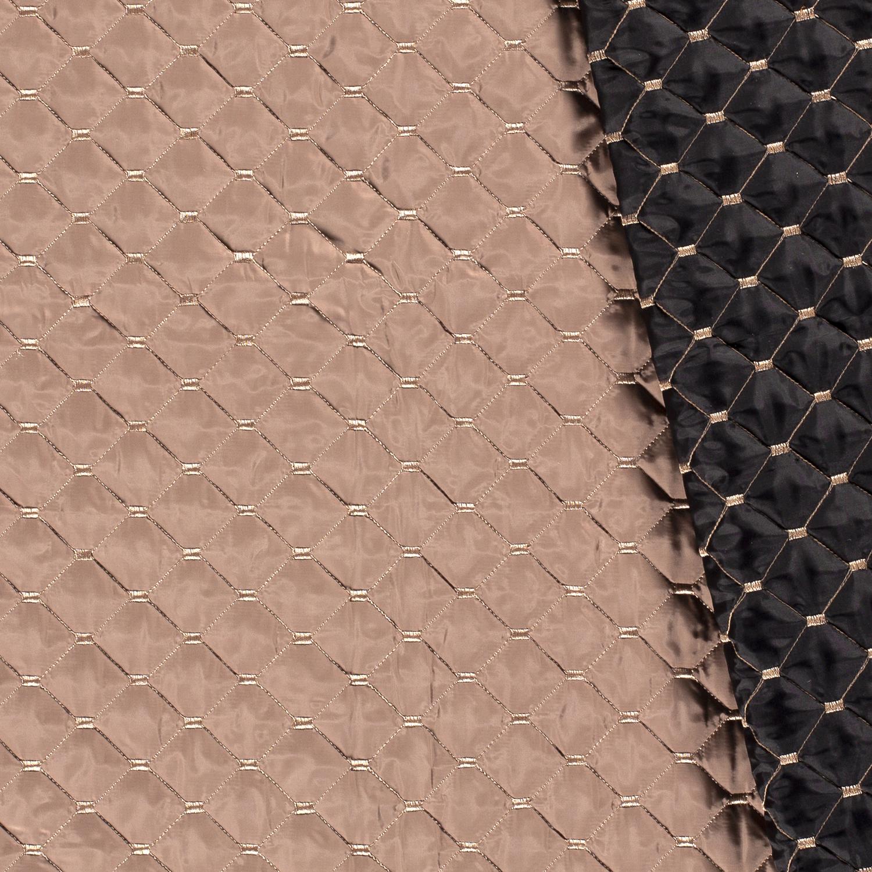 Stepper - Wattierter Steppstoff - Uni - Braun