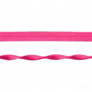 Einfassband elastisch Jaquard 20 mm - Pink glänzend