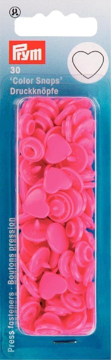 Prym - NF Druckknöpfe Color Snaps Herz - Pink