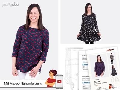 Pattydoo - Schnittmuster Allie Damenbluse und Kleid by pattydoo