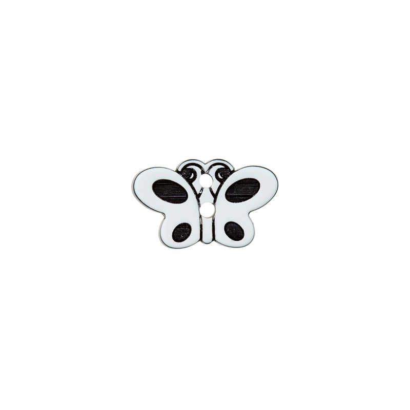Knopf - Knöpfe - 2 Loch - 18mm - Schmetterling - 1 Stück
