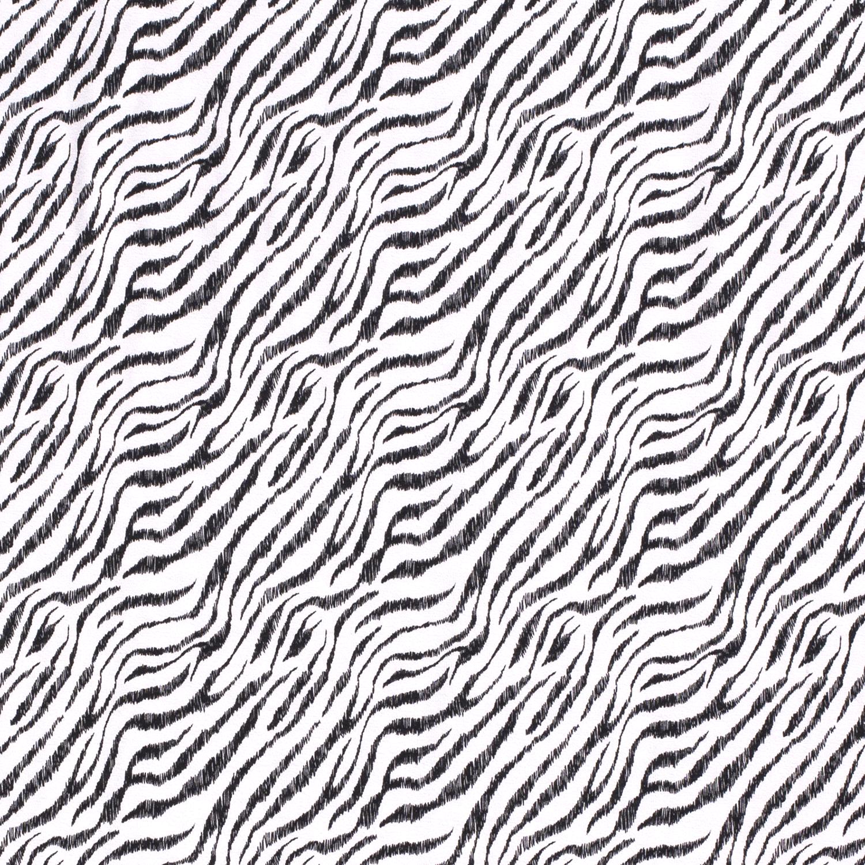 Baumwolljersey - Jersey Stoff - Motivjersey - Zebraprint auf Weiß