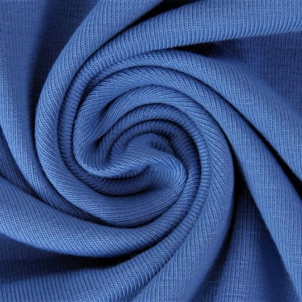Baumwolljersey - Jersey Stoff Uni - Mittelblau