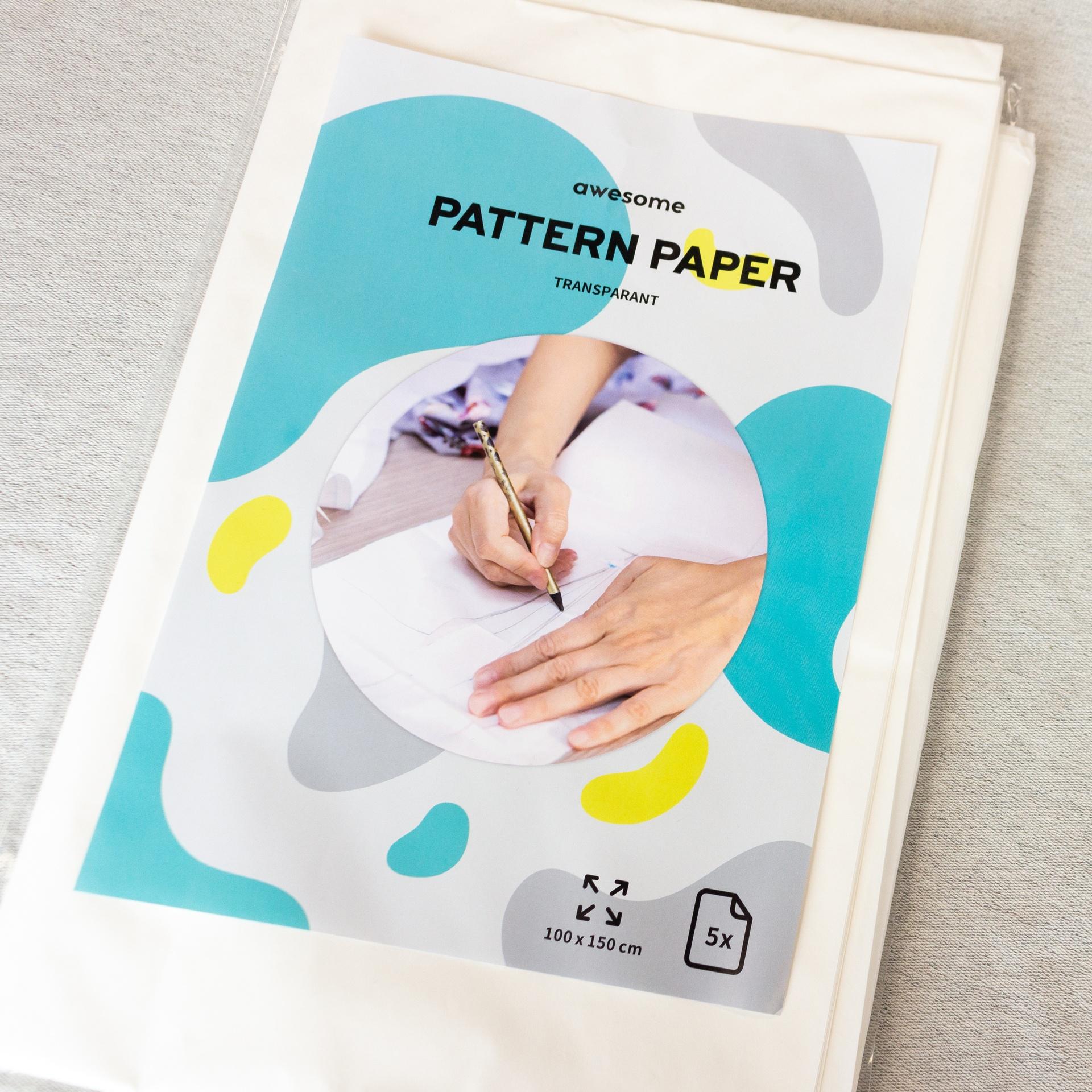 Schnittmusterpapier - 100cmx150cm - 5 Stück - Transparent
