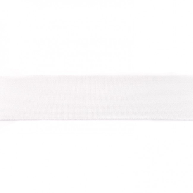 Gummiband 40mm - Uni Weiß