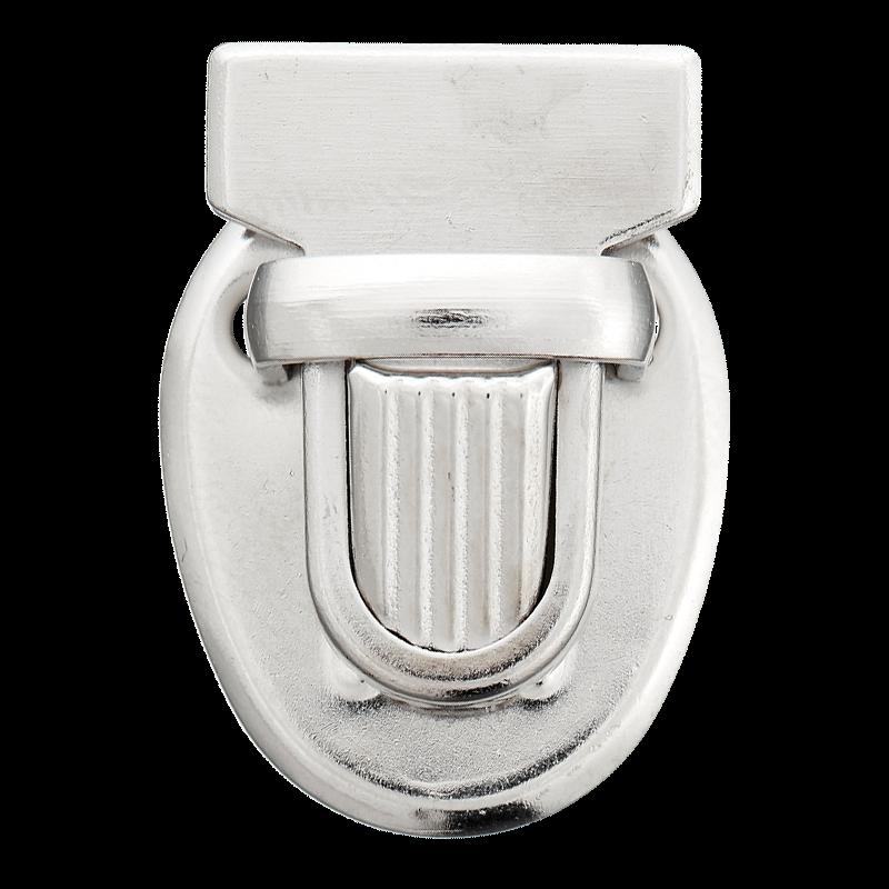 Taschenverschluss - Mappenschloss - Steckschloss - Metall - Silber - 1 Stück