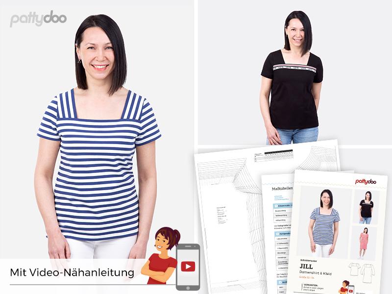 Pattydoo - Schnittmuster Jill - Damenshirt & Kleid