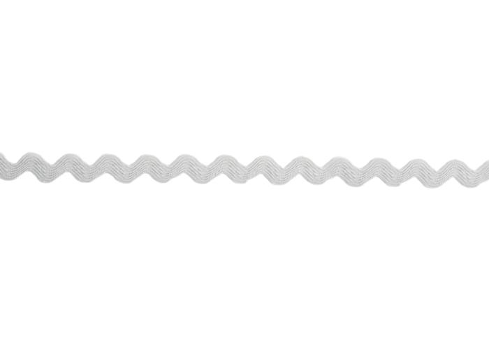 Zackenlitze 7mm  Grau