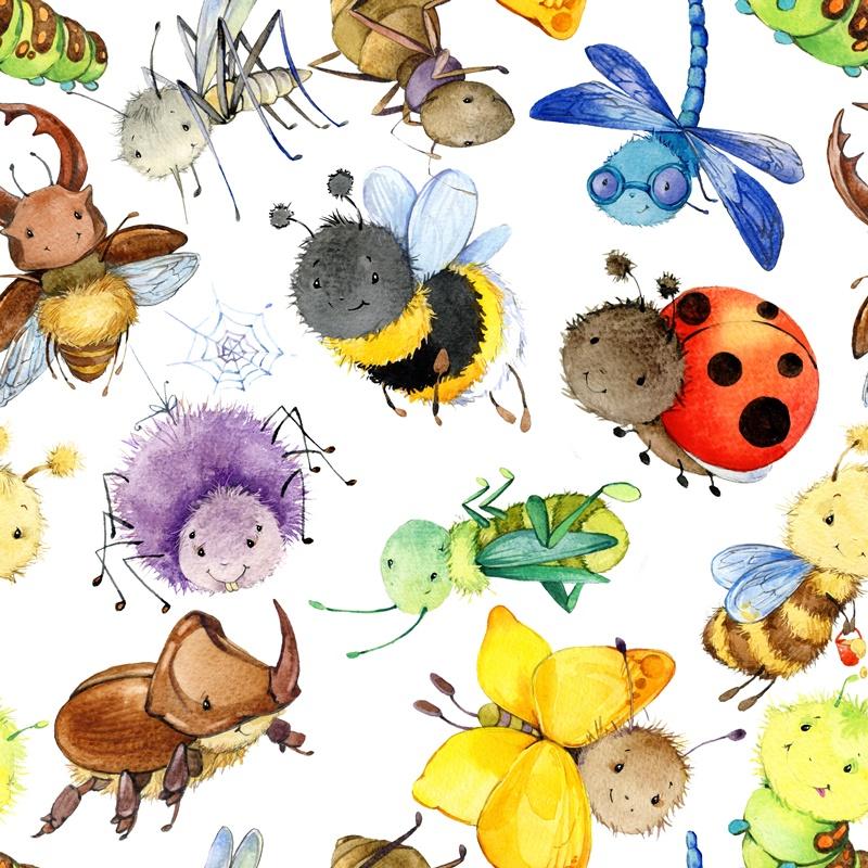 Baumwolljersey - Insektenparty - Schnuckidu Eigenproduktion