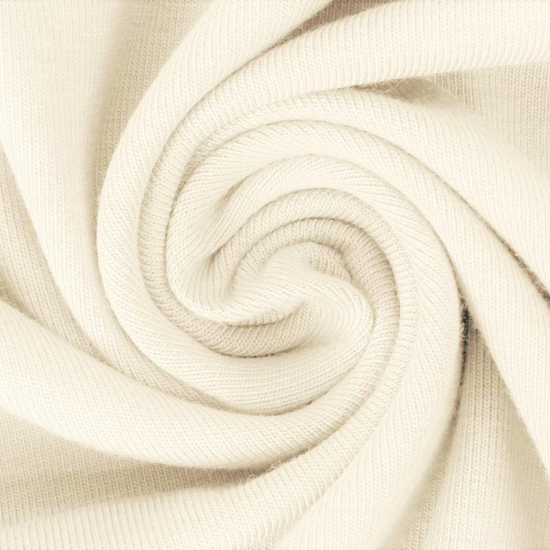 Baumwolljersey - Jersey Stoff Uni - New Fashion Color - Pastell - Ecru