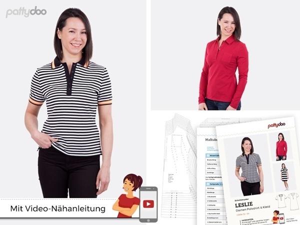 "Pattydoo - Schnittmuster ""Leslie"" Damen Poloshirt & Kleid by pattydoo"