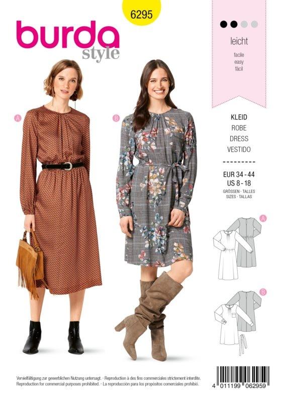 Burda Style 6295 Schnittmuster - Kleid - Damen 34 - 44 - Level 2 Leicht