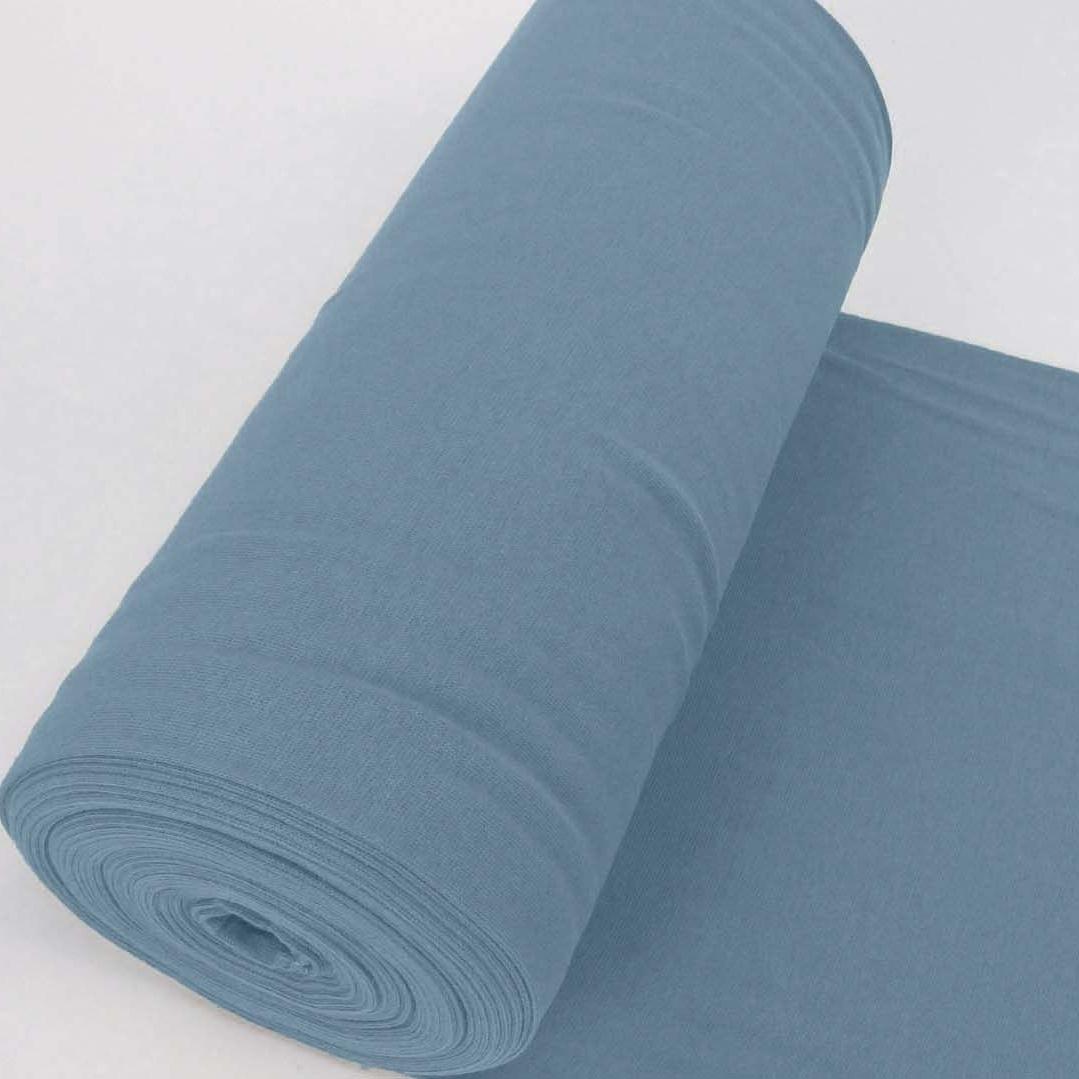 Bündchen Stoff Feinripp Uni - Jeansblau