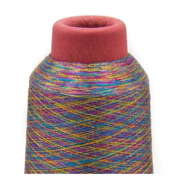 Overlockgarn - Nähgarn - Spule - Metallic - Multicolor