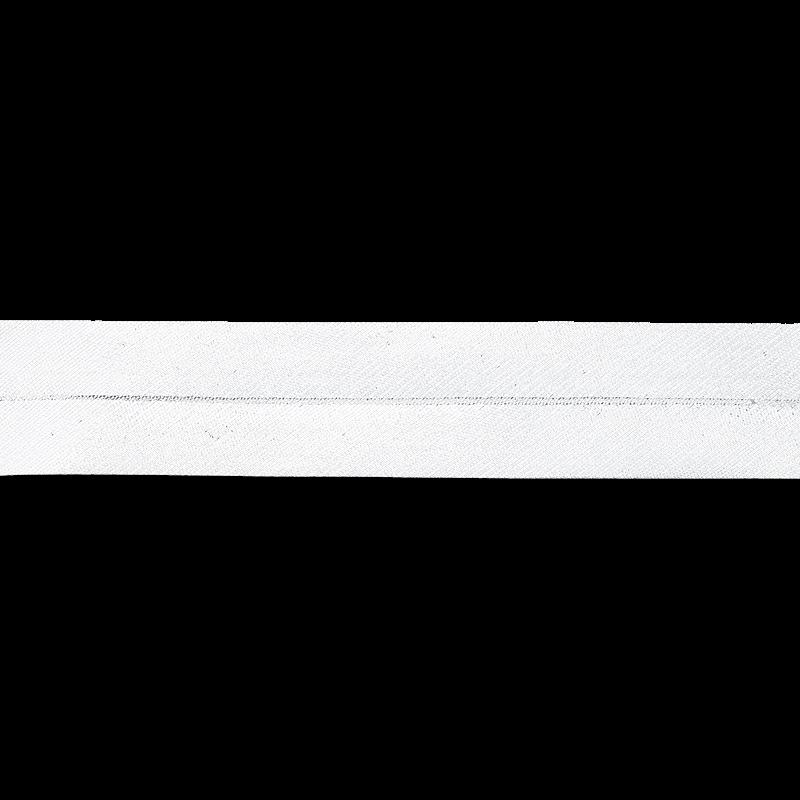 Schrägband - Einfassband - metallisiertes Schrägband 20mm - Meterware - Silber