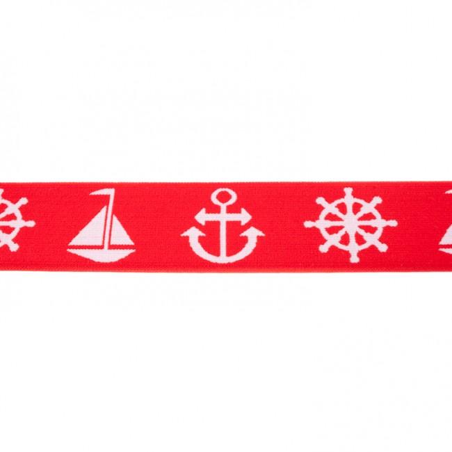Gummiband Maritim 40mm - Rot