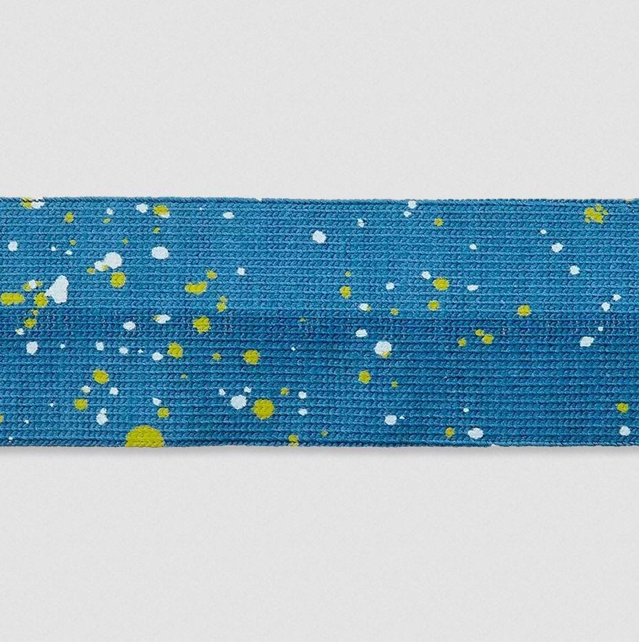 Elastisches Einfassband - Sprenkel - 20mm - Blau