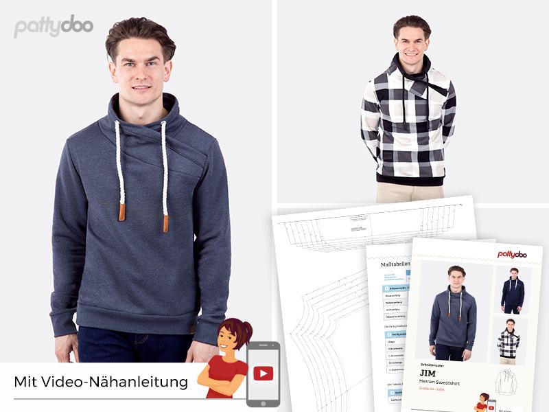 Pattydoo - Schnittmuster Jim - Wickelkragen Sweatshirt