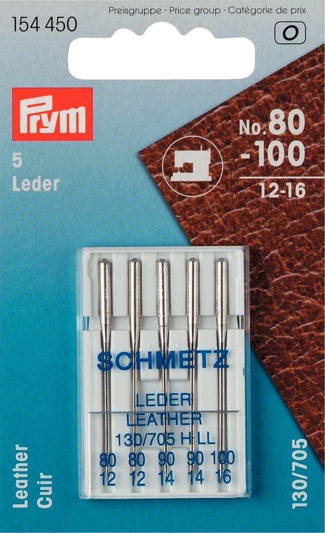 Prym - Nähmaschinennadeln 130/705 Leder 80-100 - 154450