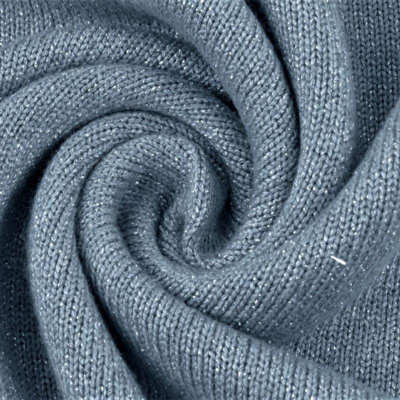 Viskosestrick mit Lurex - Jeansblau