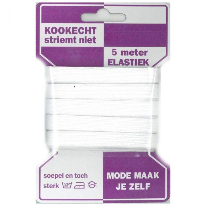 Gummilitze kochfest für Facies - Flach-Elastic 10 mm weiß - 5 Meter Packung