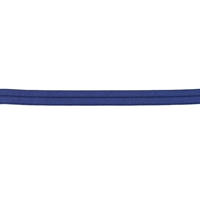 Elastisches Schrägband Polyamid - glänzend - Dunkelblau