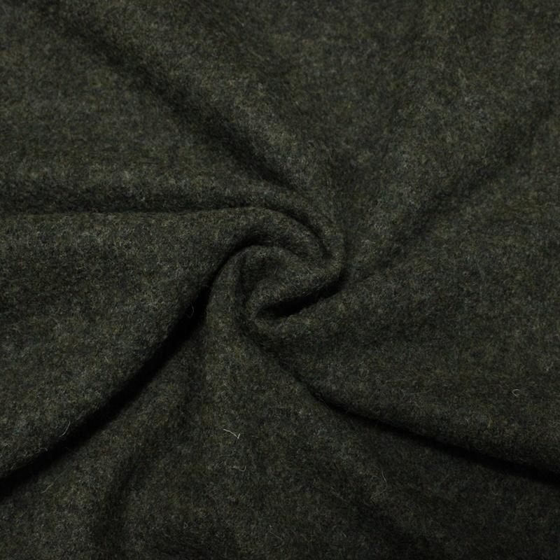 Walkloden - Loden - Wollwalk - Uni - Braungrün meliert