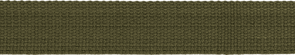 Hochwertiges Gurtband Baumwolle - Baumwollgurtband - 30mm - Oliv