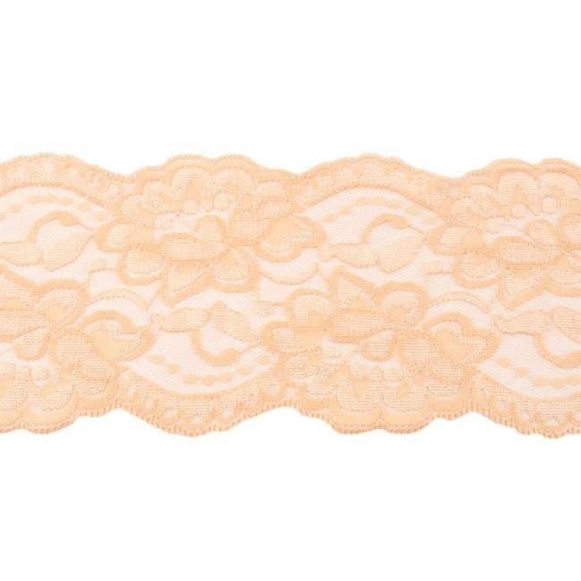 Spitze - Elastische Spitze - 9,5 cm - Sand