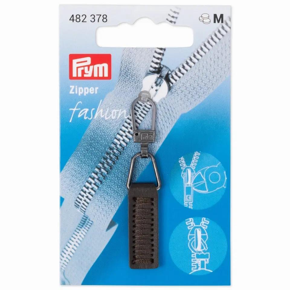 Prym Fashion Zipper - Lederimitat - braun - 482378