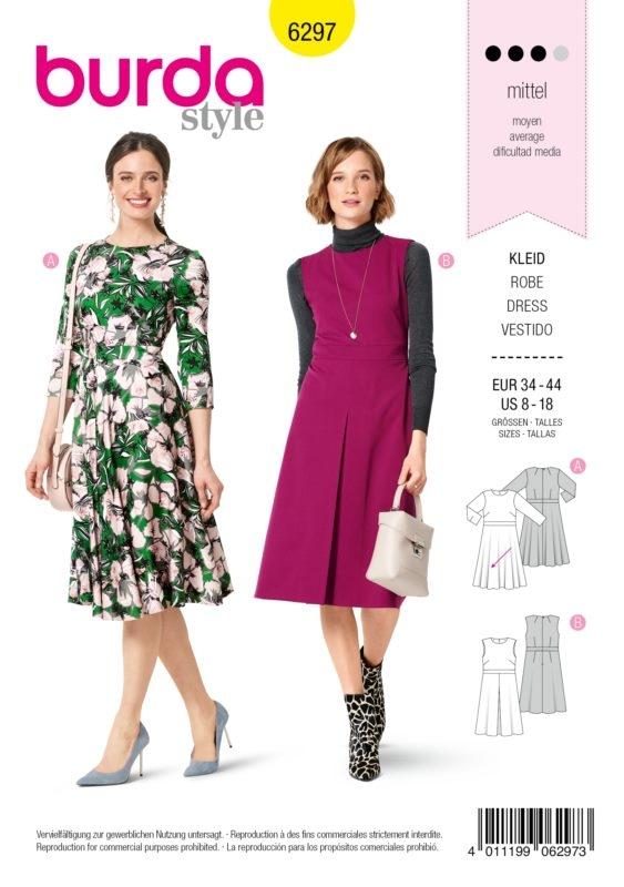 Burda Style 6297 Schnittmuster - Kleid - Damen 34 - 44 - Level 3 Mittel