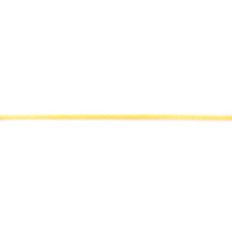 Doppelt gewebte Baumwollkordel - 3mm - Gelb