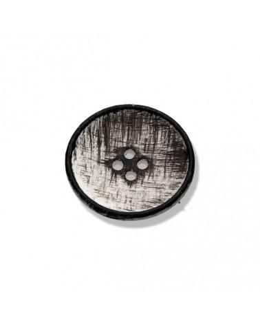 Knopf - Knöpfe - kleiner weiß schwarzer Knopf - 23mm - 1 Stück