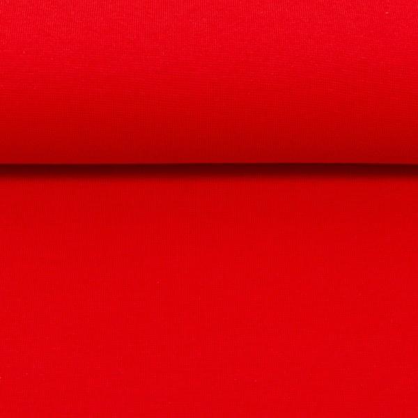 Heike, Schlauchware **Öko-Tex Standard 100**, Bündchen, uni rot